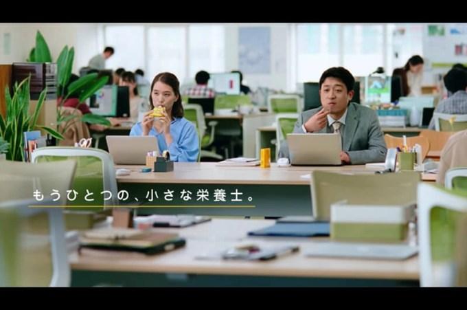 カロリーメイトゼリー新CMオフィスでチューしたOLは誰?山田由梨のチューシーン