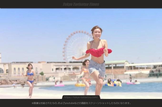 ラグーナテンボス新CMナイトプール始まる!水着の女性達は?AAA宇野実彩子出演