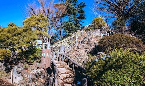 千駄ヶ谷富士(鳩森八幡神社)