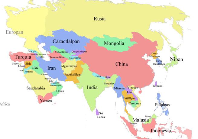 Azie landkaart