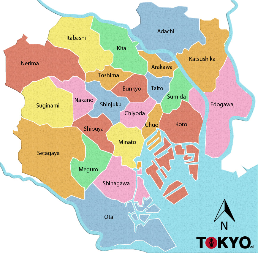 Plattegrond tokyo