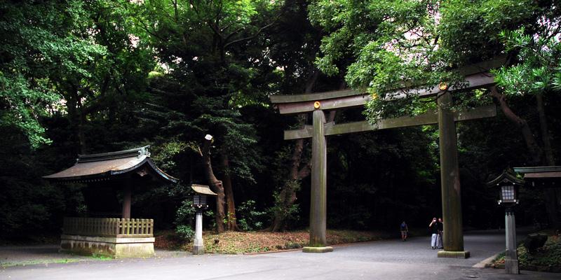 Meiji Shrine park in Tokyo