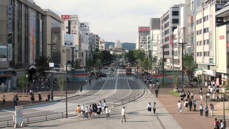 Himeji Otemae winkelstraat