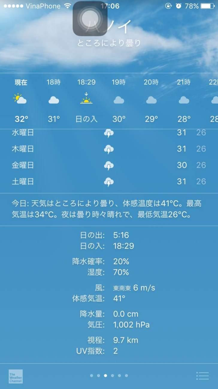 ハノイの天気 気温 5月 2