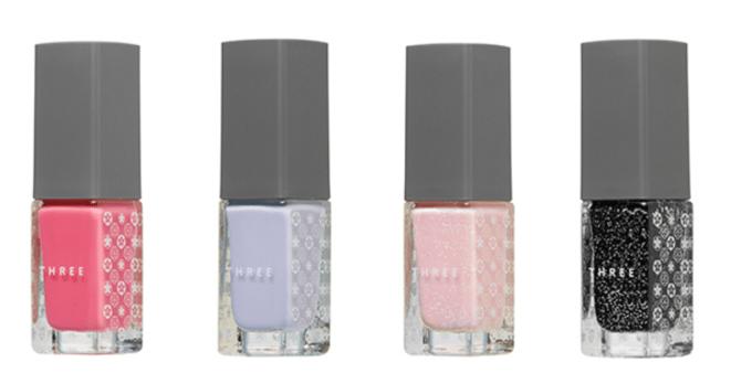 "Three ""Sakuraism"" nail polish"