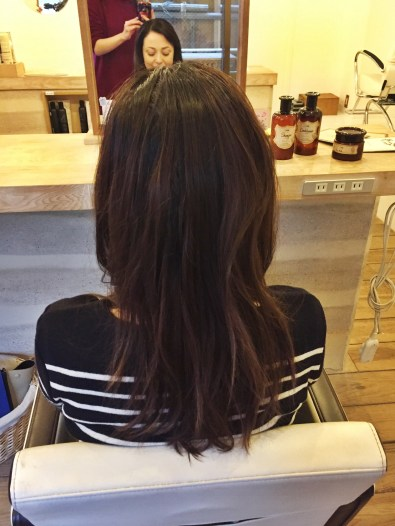 Before the Sabon treatment my hair is not looking it's best.