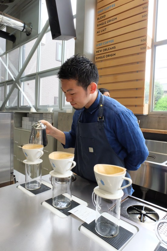 Barista at Blue Bottle Coffee Kiyosumi-Shirakawa Tokyo Japanite