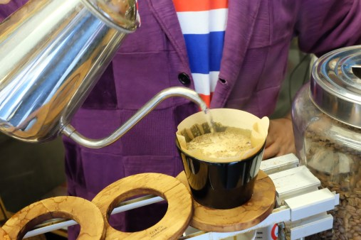 Torch Donut Pour-over at Arise Coffee Roasters Kiyosumi-Shirakawa Tokyo Japan
