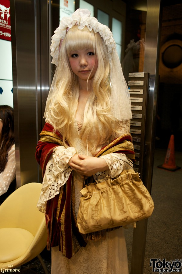 Japanese student Mishio at the Grimoire party.