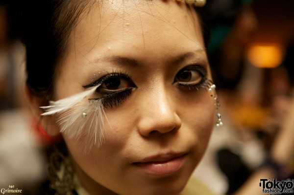 Awesome eye makeup at the Grimoire party.