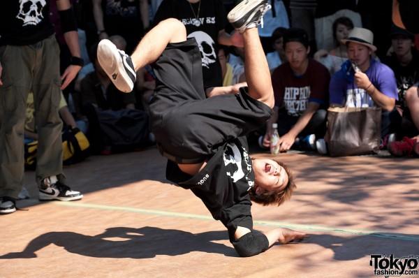 Breakdancing at B-Boy Park Tokyo