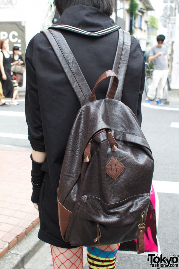 Black backpack from Takeshita Dori shop