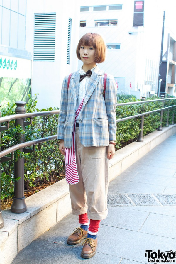 Resale Plaid Jacket & Bow Tie