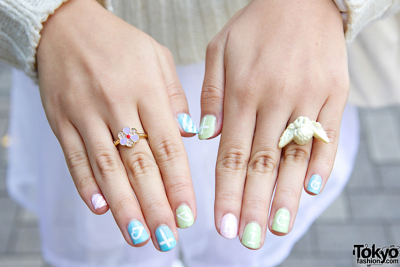 Katie Rings With Nail Art