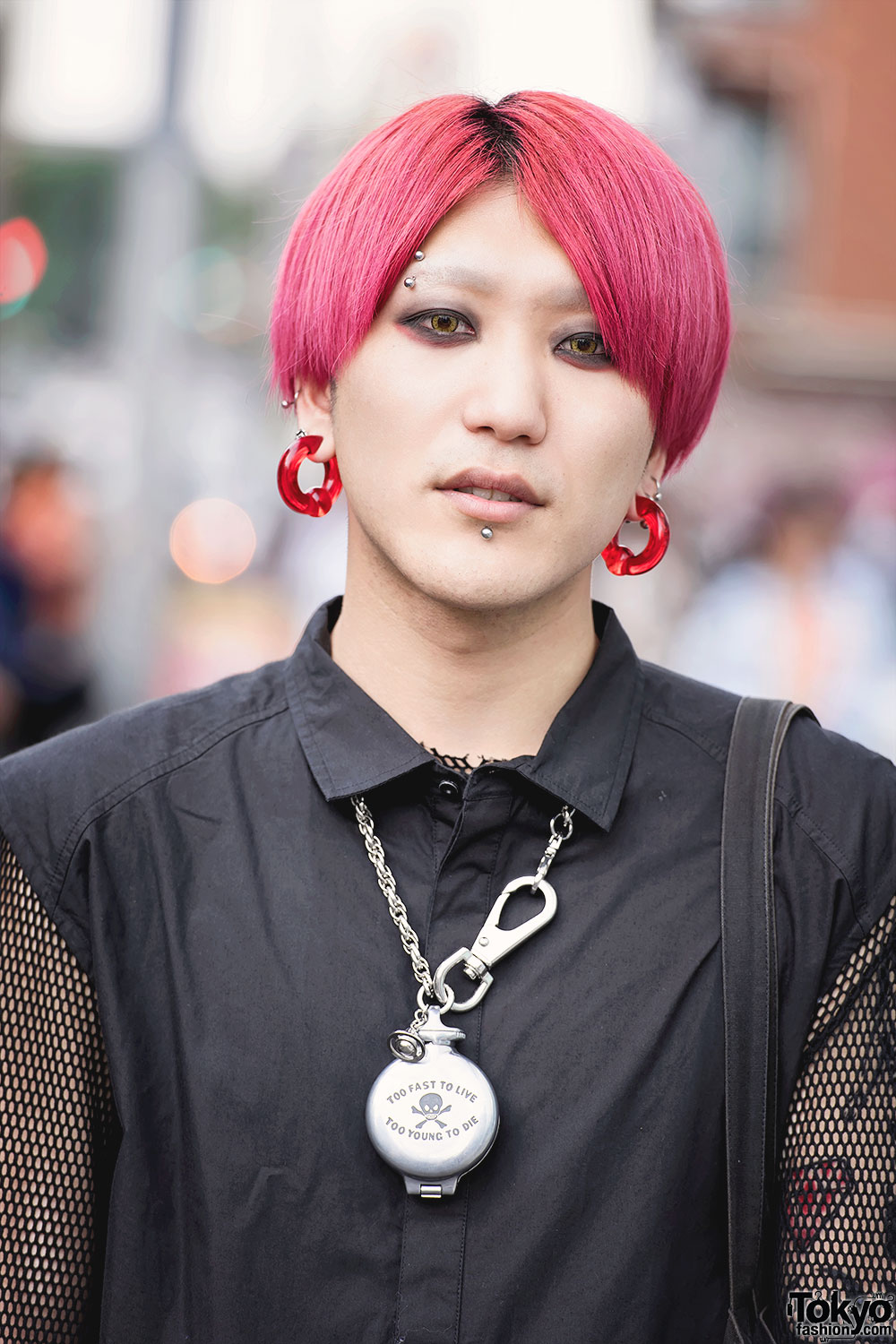 Pink Haired Harajuku Guy In Comme Des Garcons Amp Chrome Hearts