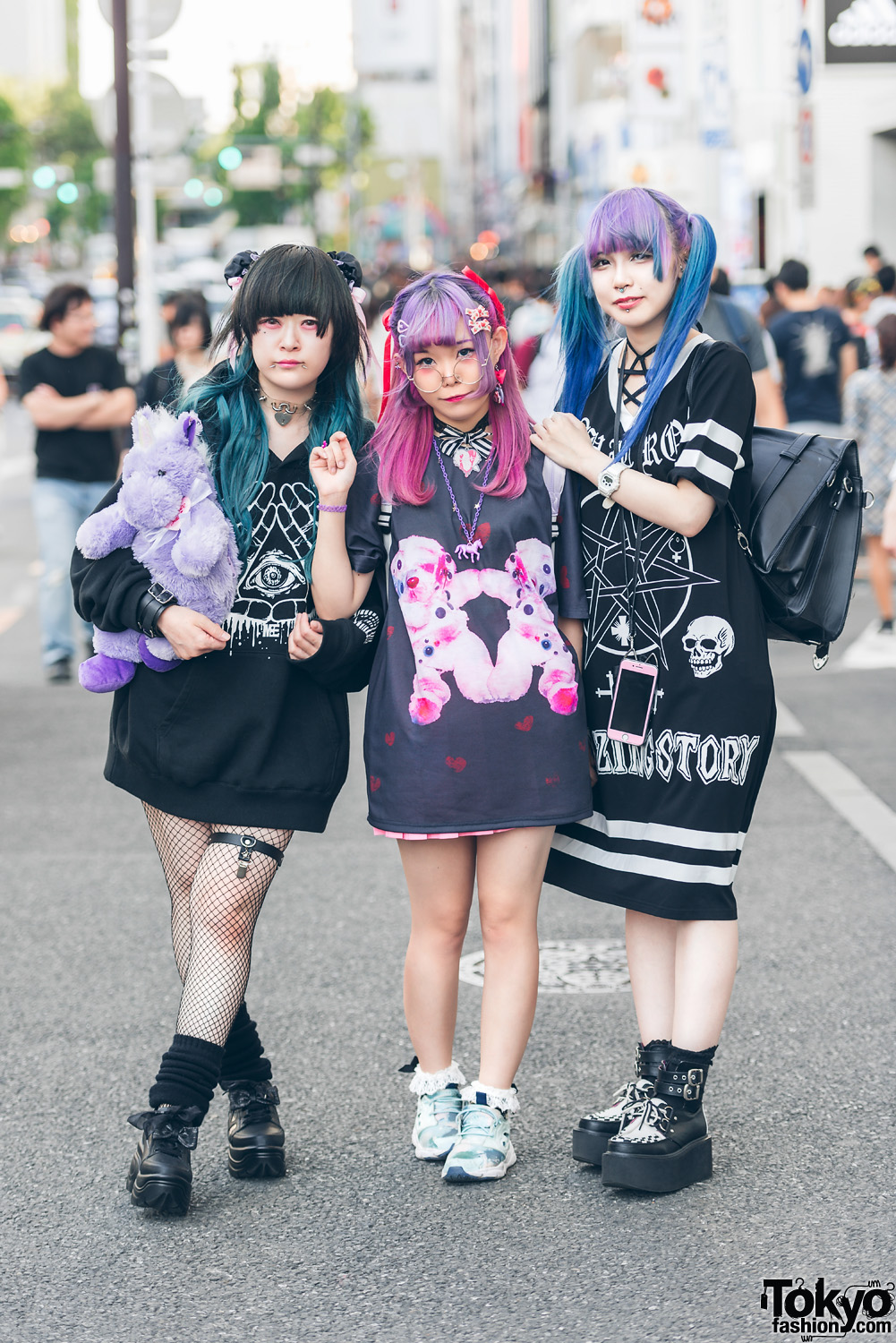Image result for dark kawaii street fashion
