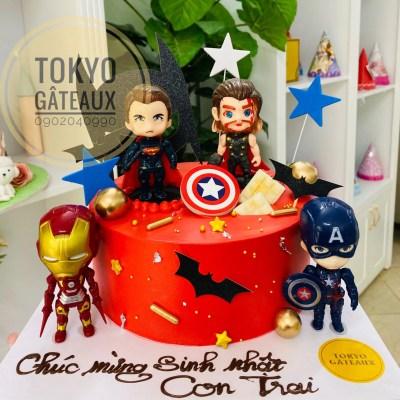 bánh sinh nhật avengers