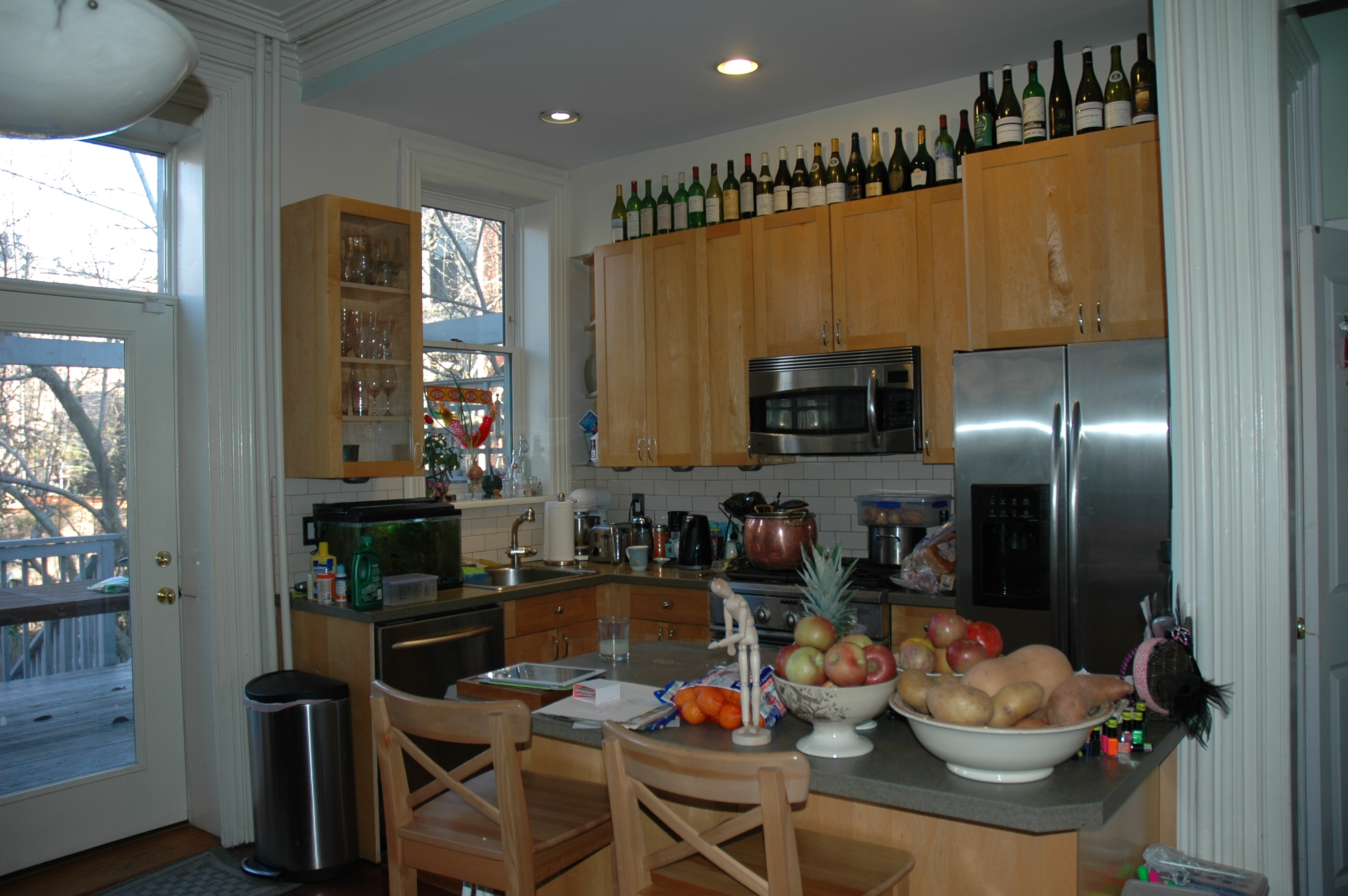 Form versus function inset or overlay cabinet doors for Modern kitchen designs brooklyn ny