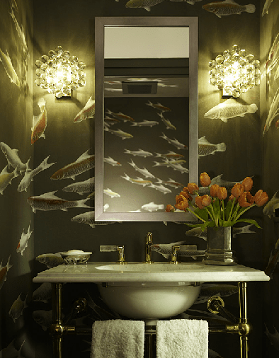Katie Ridder fish bathroom via KR