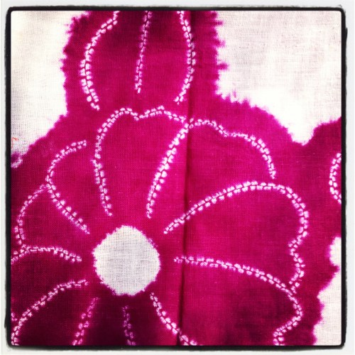 pink shibori