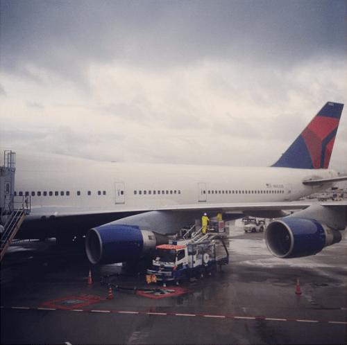 Instagram airplane leaving Japan