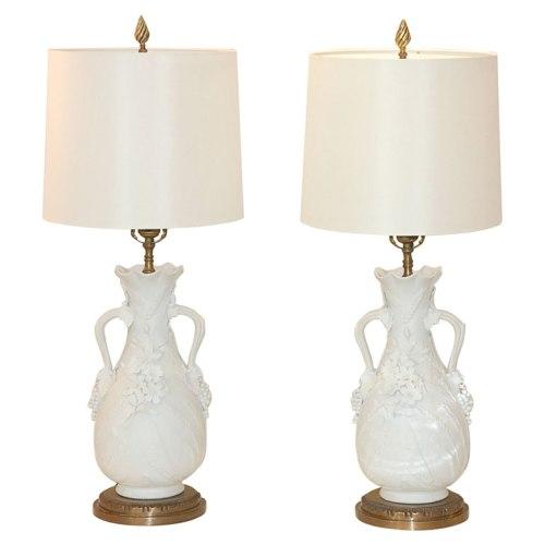 blanc de chine lamps via style court 2007