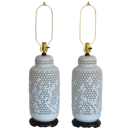 pierced Japanese lamps
