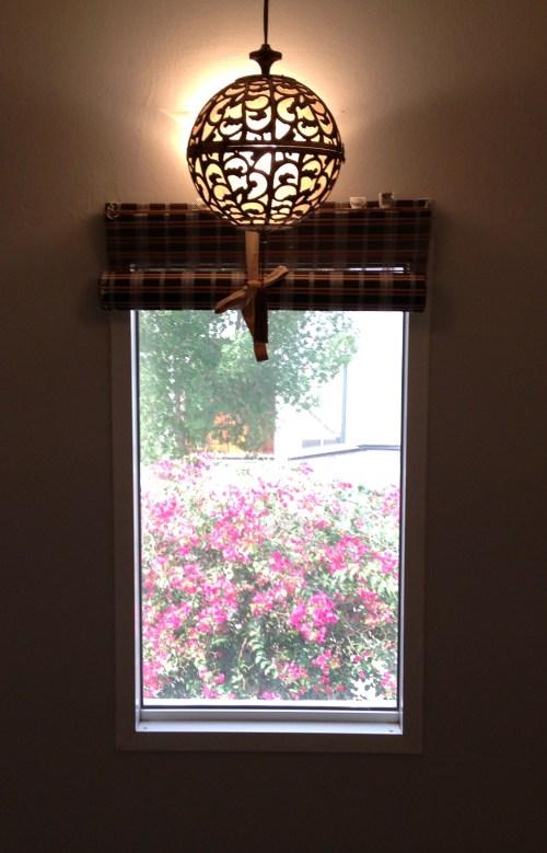 pierced karakusa light chandelier brass