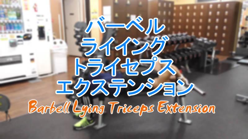 バーベルライイングトライセプスエクステンション(Barbell Lying Triceps Extension)のやり方とフォーム