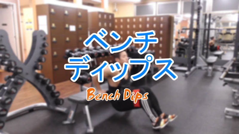 ベンチディップス(Bench Dips)のやり方と基本フォーム