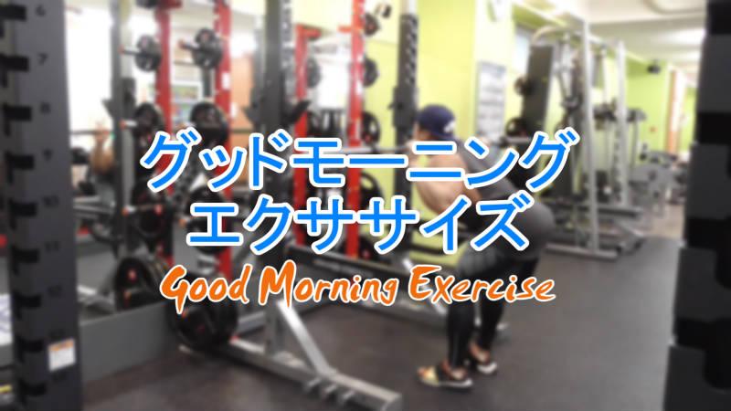 グッドモーニングエクササイズ(Good Morning Exercise)のやり方とフォーム