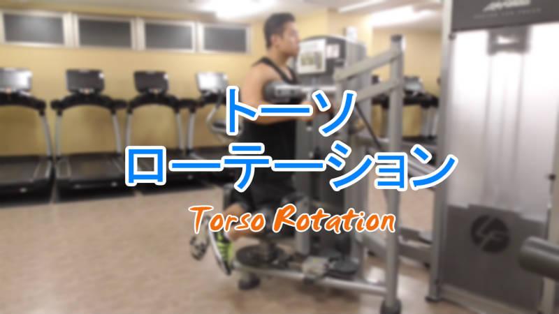 トーソローテーション(Torso Rotation)のやり方とフォーム