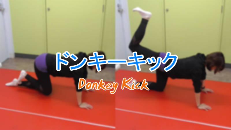 ドンキーキック(Donkey Kick)のやり方とフォーム