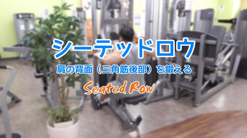 シーテッドロウのメイン筋肉を三角筋後部に!やり方やグリップ方法
