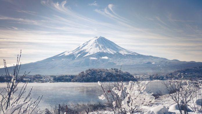 Tokyo Area Ski Resorts, Mt Fuji covered in Snow