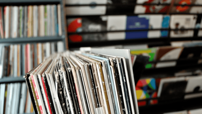 A larger collection of of used records at a Tokyo Vinyl Record Store