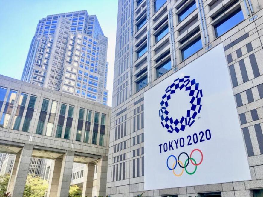 東京都庁 オリンピック・パラリンピック フラッグ展示