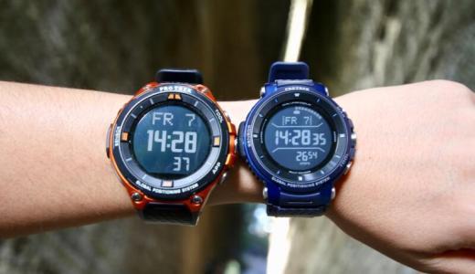 カシオ「PRO TREK Smart WSD-F30」と「WSD-F20」のサイズ感を比較してみた!コンパクト&軽量化されて女性にもおすすめ