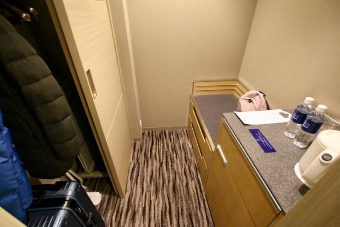 羽田エクセルホテル東急のクローゼット