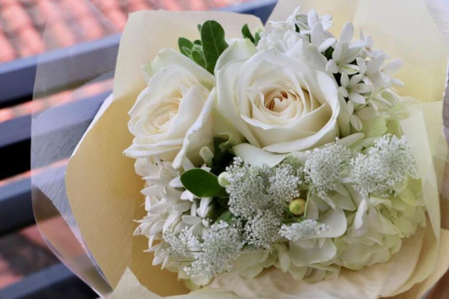 結婚10周年記念に嫁さんに送った花束