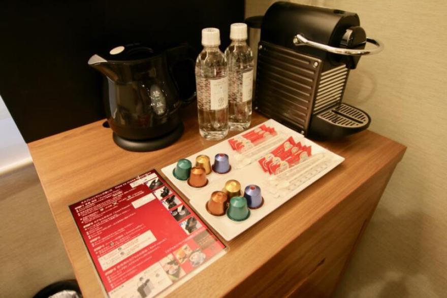 ホテル龍名館東京 お茶やコーヒー(ネスプレッソ)が入れられます