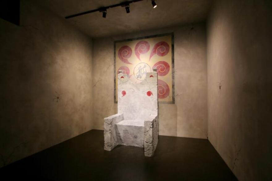 NARUTO×BORUTO 富士 木ノ葉隠れの里 忍道館 イタチの椅子のフォトスポット