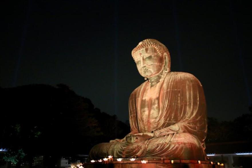 かまくら長谷の灯かり 鎌倉大仏殿高徳院 大仏様ライトアップ
