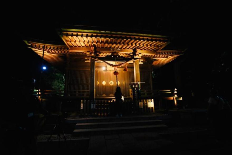かまくら長谷の灯かり 甘縄神明宮