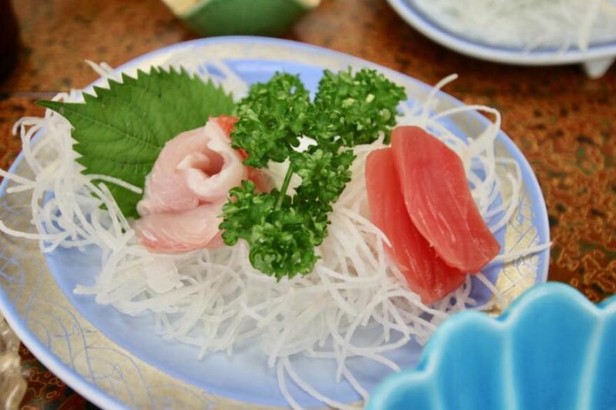 旅館「はまべ荘」稲取キンメの朝食