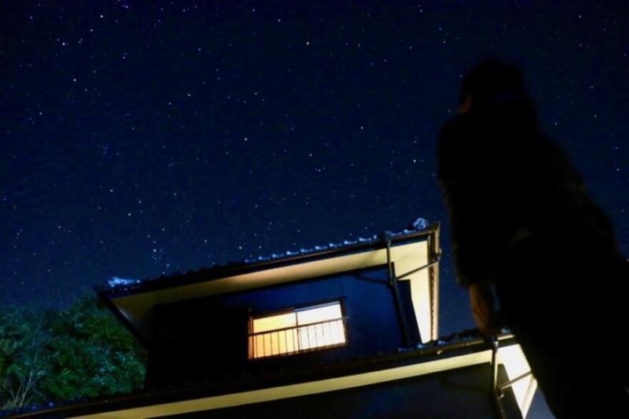 「宿屋まてまて」の満天の星空