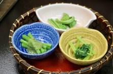 旬の山菜三種盛り
