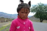 Nomad girl, between Shigatse and Gyantse