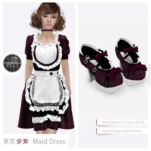 Tokyo.Girl Maid Dress Cherry Ad