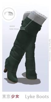 Tokyo.Girl . Lyke Boots . Seagreen Ad